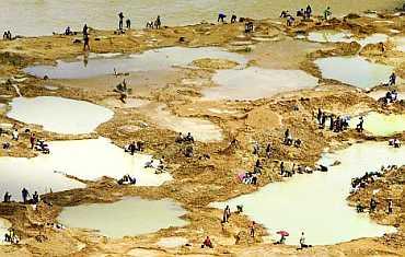 Gyémántlelőhely - Sierra Leone