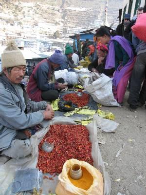 Namche piac (fotó: Paul Adler)