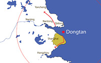 Dongtan földrajzi elhelyezkedése